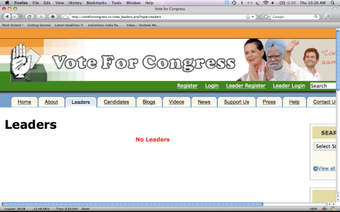 Congress Party Website